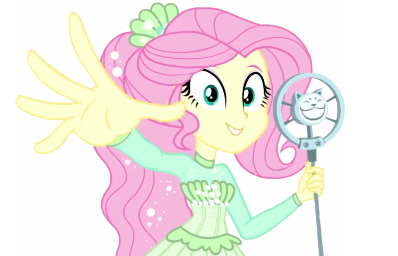 1782687 Safe Edit Edited Screencap Editor Lonely Fanboy48 Screencap Fluttershy Equestria Girls Equestria Girls Series So Much More To Me Background Removed Clothes Cute Looking At You Microphone Simple Background Singing Solo