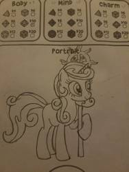 Size: 756x1008   Tagged: safe, artist:hickory17, oc, oc only, oc:aurora the kind, unicorn, tails of equestria, female, parent:clover the clever, parent:star swirl the bearded, show accurate, solo, staff, traditional art