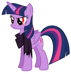 Size: 3612x3800 | Tagged: alicorn, artist:andoanimalia, clothes, corrupted twilight sparkle, female, idw, mare, ponies of dark water, pony, red eyes, safe, scarf, simple background, solo, transparent background, twilight is anakin, twilight sparkle, twilight sparkle (alicorn), tyrant sparkle, vector