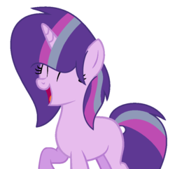 Size: 783x757 | Tagged: artist:crystalponyart7669, female, magical lesbian spawn, mare, oc, oc:lunar star, offspring, parent:starlight glimmer, parents:twistarlight, parent:twilight sparkle, pony, safe, simple background, solo, transparent background, unicorn