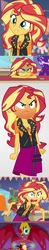 Size: 358x1843 | Tagged: safe, edit, screencap, sunset shimmer, equestria girls, equestria girls (movie), equestria girls series, rollercoaster of friendship, angry, calm, cute, irritated, it's not about the parakeet, messy hair, rage, rageset shimmer, red face, sunset satan, that pony sure have anger issues, this will end in pain