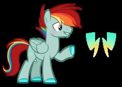 Size: 2448x1744   Tagged: safe, artist:thesmall-artist, oc, oc only, oc:lightning color, pegasus, pony, male, offspring, parent:flash magnus, parent:rainbow dash, parents:dashmagnus, simple background, solo, stallion, transparent background