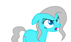 Size: 1106x658 | Tagged: angry, artist:kingbases, base used, derpibooru exclusive, earth pony, female, mare, ms paint, oc, oc:candy love, oc only, open mouth, safe, simple background, solo, white background