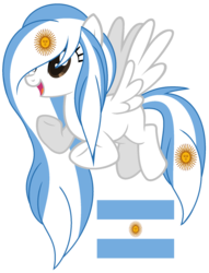 Size: 1024x1340 | Tagged: argentina, artist:cosmicwitchadopts, female, mare, nation ponies, pegasus, ponified, pony, safe, simple background, solo, transparent background