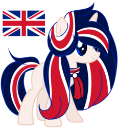 Size: 1024x1097 | Tagged: artist:cosmicwitchadopts, female, mare, nation ponies, ponified, pony, safe, simple background, solo, transparent background, unicorn, united kingdom
