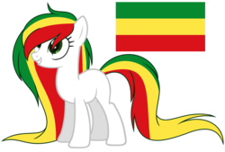 Size: 1024x693 | Tagged: artist:cosmicwitchadopts, earth pony, ethiopia, female, mare, nation ponies, ponified, pony, safe, simple background, solo, transparent background