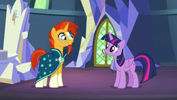 Size: 1280x720 | Tagged: safe, screencap, sunburst, twilight sparkle, uncommon bond