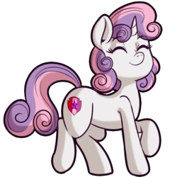 Size: 512x512   Tagged: safe, artist:anibaruthecat, sweetie belle, pony, unicorn, cutie mark, explicit source, eyes closed, female, filly, simple background, smiling, solo, the cmc's cutie marks, transparent background