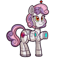 Size: 512x512   Tagged: safe, artist:anibaruthecat, sweetie belle, pony, robot, robot pony, unicorn, cutie mark, explicit source, female, filly, simple background, smiling, solo, sweetie bot, the cmc's cutie marks, transparent background