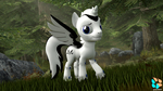 Size: 3840x2160   Tagged: safe, artist:kasjer19, oc, oc:elder, alicorn, 3d, alicorn oc, forest, grass, model, source filmmaker