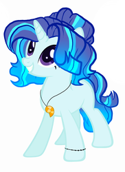 Size: 1548x2132 | Tagged: artist:pinkgalaxy56, female, mare, oc, oc:sea lover, pony, safe, simple background, solo, unicorn, white background