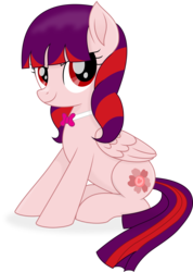Size: 7128x10000 | Tagged: absurd res, artist:cirillaq, bowtie, female, mare, oc, oc:cherry tart, pegasus, pony, safe, simple background, sitting, solo, transparent background, vector