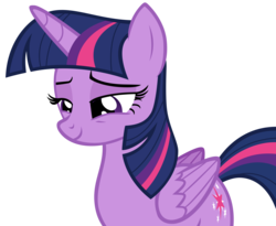 Size: 3212x2628 | Tagged: safe, artist:andoanimalia, twilight sparkle, alicorn, pony, what about discord?, female, high res, lidded eyes, simple background, smiling, solo, transparent background, twilight sparkle (alicorn), vector