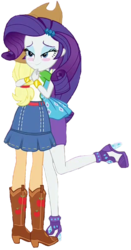 Size: 311x594 | Tagged: safe, edit, edited screencap, editor:ilove-mlp18, screencap, applejack, rarity, equestria girls, equestria girls series, rollercoaster of friendship, background removed, boots, clothes, cropped, cute, female, foot popping, hug, jackabetes, jewelry, park, raribetes, shipping fuel, shoes, simple background, transparent background