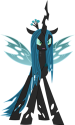 Size: 1092x1822 | Tagged: angry, artist:frownfactory, changeling, changeling queen, crown, female, horn, jewelry, queen chrysalis, regalia, safe, simple background, solo, svg, .svg available, the mean 6, transparent background, vector, wings