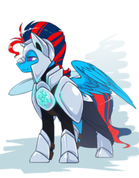 Size: 2000x2549 | Tagged: armor, artist:arctic-fox, male, oc, oc:andrew swiftwing, oc only, pegasus, pony, royal guard, safe, solo, stallion