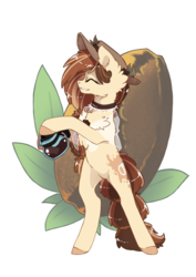 Size: 1768x2500 | Tagged: artist:arctic-fox, coffee, coffee bean, coffee pot, earth pony, female, hat, mare, oc, oc:cappuccino splash, oc only, pony, rearing, safe, simple background, solo, transparent background