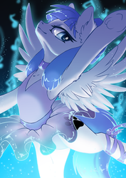 Size: 707x1000 | Tagged: arabesque, armpits, artist:arctic-fox, ballerina, ballet, ballet slippers, beautiful eyes, clothes, cutie mark, dancing, diabetes, en pointe, female, glittery, leotard, oc, oc only, oc:snow pup, one arm up, pawprint, pegasus, pony, safe, shiny, smiling, solo, sparkly, tutu, underhoof