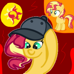 Size: 1000x1000 | Tagged: female, filly, filly sunset, ponified, pony, safe, sunset shimmer, younger