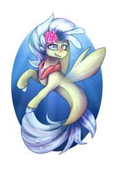 Size: 3000x4500 | Tagged: safe, artist:jazzerix, princess skystar, hippogriff, seapony (g4), my little pony: the movie, female, simple background, solo, transparent background