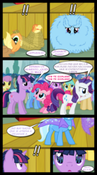 Size: 1280x2300 | Tagged: amethyst star, applejack, artist:bigsnusnu, bondage, cherry cola, cherry fizzy, coco crusoe, comic, comic:dusk shine in pursuit of happiness, dizzy twister, dusk shine, earth pony, exclamation point, female, fluffy, half r63 shipping, lyra heartstrings, male, minuette, orange swirl, parasol, pegasus, pinkie pie, pokey pierce, pony, rainbow dash, rainbowshine, rarity, rope, rule 63, safe, shipping, spanish, sparkler, straight, sunshower raindrops, tied up, translated in the comments, trixie, trixshine, twilight sparkle, twinkleshine, twixie, unicorn, unicorn dusk shine