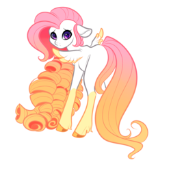 Size: 2000x2000 | Tagged: safe, artist:itsmalicious, oc, oc only, pegasus, pony, blank flank, colored wings, colored wingtips, curly hair, femboy, floppy ears, long mane, male, offspring, parent:bulk biceps, parent:fluttershy, parents:flutterbulk, simple background, solo, stallion, transparent background
