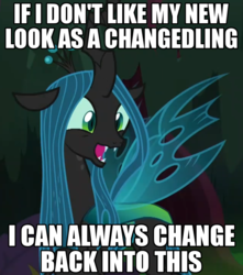 Size: 836x944 | Tagged: adorkable, changedling, changeling, changeling queen, cropped, cute, cutealis, dork, dorkalis, edit, edited screencap, excited, female, fridge brilliance, happy, image macro, meme, meta, mind blown, open mouth, pony, pun, queen chrysalis, realization, reformed, safe, screencap, shapeshifting, silly, silly pony, solo, spoiler:s08e13, sudden realization, the mean 6