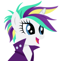 Size: 4770x4830 | Tagged: safe, artist:paganmuffin, rarity, unicorn, it isn't the mane thing about you, absurd resolution, alternate hairstyle, female, mare, punk, raripunk, simple background, solo, transparent background, vector