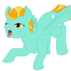 Size: 2000x2000 | Tagged: safe, artist:m3nthol, lightning dust, pegasus, pony, face down ass up, female, mare, solo