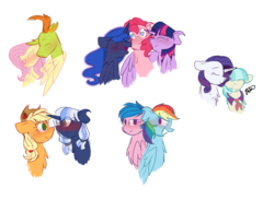 Size: 2600x2009 | Tagged: alicorn, applejack, artist:thepegasisterpony, canon x oc, changedling, changeling, coco pommel, crack shipping, dashfly, female, firefly, fluttershy, g1, heart eyes, interspecies, king thorax, lesbian, lunapie, male, marshmallow coco, oc, oc:silverlay, pinkie pie, polyamory, princess luna, rainbow dash, rarity, safe, shipping, silverjack, simple background, straight, thorax, thoraxshy, transparent background, twilight sparkle, twilight sparkle (alicorn), twinkie, twinkuna, wingding eyes
