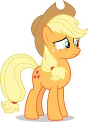 Size: 7000x9669 | Tagged: safe, artist:luckreza8, applejack, earth pony, pony, yakity-sax, .svg available, absurd resolution, cowboy hat, female, freckles, hat, simple background, solo, stetson, transparent background, vector