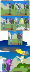 Size: 1370x3242 | Tagged: airship, artist:pheeph, beanie, burning, comic, crashing, equestria girls, fire, fireworks, hat, human, oh crap, oh no, oh the humanity, old master q, once upon a zeppelin, parody, safe, starlight glimmer, this will end in death, this will end in jail time, this will end in tears, trixie, uh oh, zeppelin