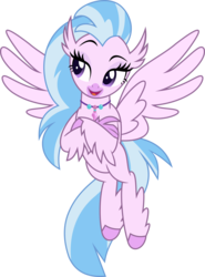 Size: 5018x6786   Tagged: safe, artist:jhayarr23, silverstream, classical hippogriff, hippogriff, school daze, absurd resolution, crossed arms, female, raised eyebrow, simple background, solo, transparent background, vector