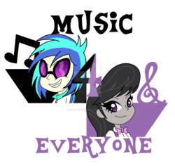 Size: 1024x980 | Tagged: artist:niban-destikim, dj pon-3, music, music notes, octavia melody, safe, simple background, transparent background, vinyl scratch, watermark