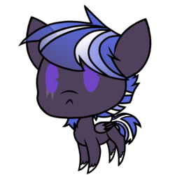 Size: 1080x1080 | Tagged: safe, artist:showtimeandcoal, oc, oc only, oc:sea shadow, pegasus, pony, chibi, colt, commission, facial hair, goatee, male, simple background, solo, stallion, transparent background, ych result