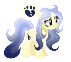 Size: 482x420 | Tagged: safe, artist:6-fingers-lover, oc, oc:ghost heart, pegasus, pony, base used, female, magical lesbian spawn, mare, offspring, parent:doctor fauna, parent:fluttershy, parents:faunashy, simple background, solo, transparent background