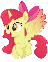 Size: 5497x7092 | Tagged: safe, artist:joemasterpencil, apple bloom, alicorn, pony, absurd resolution, alicornified, bloomicorn, female, filly, movie accurate, race swap, simple background, solo, transparent background, vector, xk-class end-of-the-world scenario