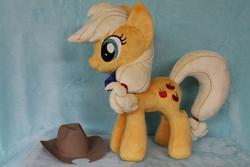 Size: 2256x1504   Tagged: safe, artist:whitedove-creations, applejack, pony, commission, irl, photo, plushie, solo
