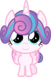 Size: 6400x9604 | Tagged: safe, artist:parclytaxel, princess flurry heart, alicorn, pony, .svg available, absurd resolution, cute, female, flurrybetes, foal, folded wings, large wings, looking at you, simple background, smiling, solo, standing, transparent background, vector, wings