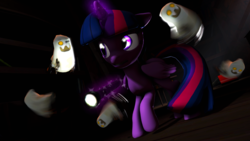 Size: 3840x2160 | Tagged: 3d, alicorn, artist:wiizzie, ghost, high res, pony, safe, solo, twilight sparkle, twilight sparkle (alicorn)