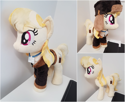Size: 2468x2016 | Tagged: artist:epicrainbowcrafts, clothes, coat, cute, fargo, female, hat, irl, march gustysnows, mare, marge gunderson, photo, plushie, pony, safe, smiling, solo
