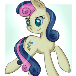 Size: 586x588 | Tagged: adorabon, artist:brok-enwings, bon bon, cute, earth pony, female, pony, safe, solo, sweetie drops
