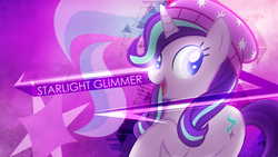 Size: 1920x1080 | Tagged: safe, artist:antylavx, artist:slb94, starlight glimmer, pony, unicorn, equestria girls, mirror magic, spoiler:eqg specials, beanie, cutie mark background, equestria girls ponified, female, hat, open mouth, ponified, solo, wallpaper