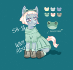 Size: 1400x1350 | Tagged: safe, artist:winter_nacht, oc, frog, adoptable, clothes, commission, dress, green underwear, hoof boots, lace, underwear