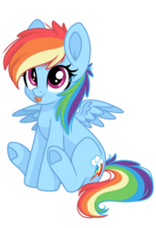 Size: 2048x3000 | Tagged: dead source, safe, artist:cinnamontee, rainbow dash, :p, backwards cutie mark, chibi, cute, dashabetes, hnnng, silly, simple background, tongue out, transparent background, underhoof
