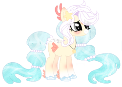 Size: 606x434 | Tagged: safe, artist:inkyy-kiwi, oc, oc only, original species, pony, water pony, female, simple background, solo, transparent background