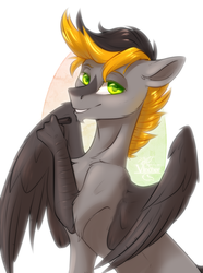 Size: 2148x2888 | Tagged: artist:vincher, hippogriff, looking at you, oc, oc:digital import, pen, safe, solo, wacom pen