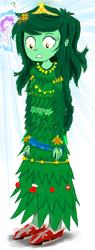 Size: 1890x5000 | Tagged: safe, artist:horsesplease, rarity, wallflower blush, equestria girls, equestria girls series, angel, angel rarity, bauble, christmas, christmas tree, clothes, decoration, dress, erysimum cheiri, flower, flower in hair, grin, holiday, jewelry, paint tool sai, smiling, surprised, tiara, tinsel, tree, wallflower, wallflower is a plant