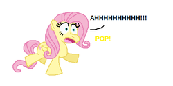 Size: 453x227 | Tagged: artist:theinflater19, fluttershy, pop, safe, screaming