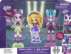 Size: 1363x1043 | Tagged: safe, artist:darkhooves, adagio dazzle, aria blaze, sonata dusk, equestria girls, rainbow rocks, boots, box, cardboard cutout, clothes, concept, cutie mark, darkhooves wastes our time, digital art, doll, dress, equestria girls logo, equestria girls minis, fake, faker than a three dollar bill, glasses, hairclip, hasbro, merchandise, microphone, mockup, packaging, photoshop, pigtails, ponytail, screenshots, shoes, skirt, stand, the dazzlings, toy, trademark, trio, twintails, welcome to the show, wings, wishful thinking